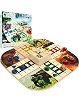 Zoo Animals Wood Board Game Ludo - Fun and exciting [80-89808] -