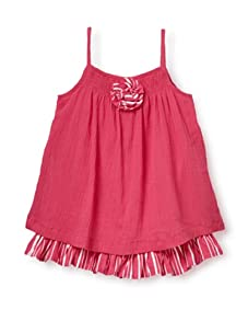 Beetlejuice Girl's 2T-6X Butterfly Kisses Swing Crepe Dress (Hot Pink)