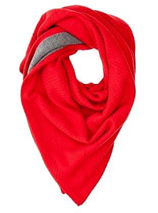 Look Bufanda Bicolor (Rojo)