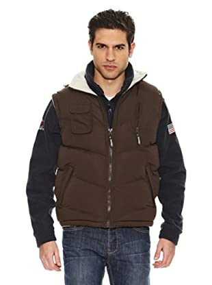 Geographical Norway Chaleco Vagon New (Chocolate / Beige)
