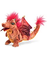Folkmanis Fire Dragon Hand Puppet Plush