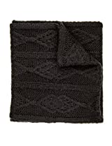 Noble Mount Mens Cable Knit Infinity Scarf - Black