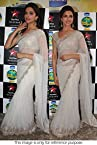 Bollywood Replica Deepika Padukone Net Saree In Off White Colour NC768