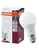 Osram Base E27 9-Watt Classic-A LED Bulb (Frosted Yellow)