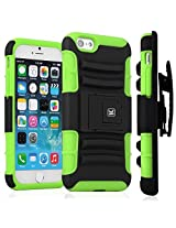 Kayscase ArmorHolster 3 Piece Heavy Duty Kickstand Case with Holster for Apple iPhone 6 4.7 inch - Green