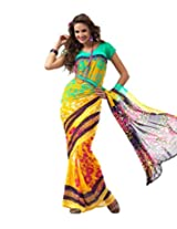 Yashika Exclusive Printed Heavy Georgette Saree Multicolor-SSTHD1014