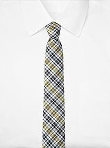 Original Penguin Men's Firecrest Plaid Tie (Yellow)