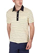 Zobello Men's Polo (21004C_Yellow Navy_Small)