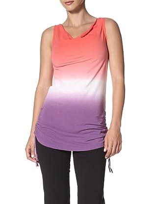 New Balance Yoga Women's Shirred Tunic Top (Dewberry)