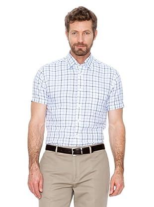 Cortefiel Camisa Cuadros (Azul / Blanco)