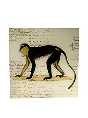 Twigs and Moss African Series Green Monkey Glass Tray