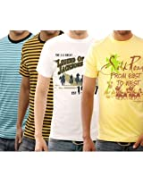 Funktees 100% Best Price Pure Cotton Mens Round Neck Small Size T-shirt - Pack of 4