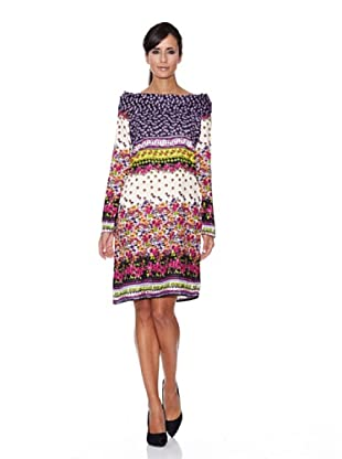 Peace & Love Vestido Estampado (Multicolor)