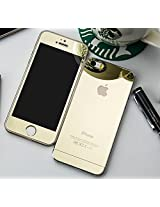 Kapa Electroplated Mirror Front + Back Tempered Glass Screen Protector for iPhone 6 PLUS - Gold