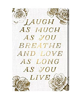 Oliver Gal Laugh & Live Roses Canvas Art