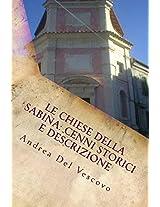 Le chiese della Sabina: cenni storici e descrizione (Italian Edition)