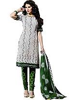 Suryajyoti Women Cotton Dress Material (Suryajyoti8075 _Green)