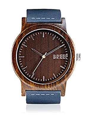 Breef Watches Reloj con movimiento japonés Unisex Ebano Azul 44 mm