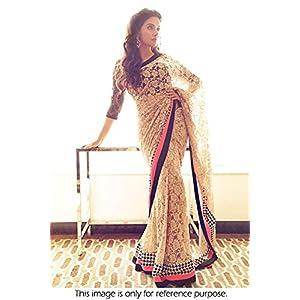 High5Store.com 73250 Designer Asin Saree - Cream