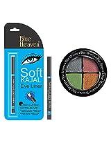 BLUE HEAVEN Eye Magic Eye Shadow 601 & BH Kajal Liner Combo