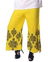 Vastra Vinod Yellow/Black Rayon Palazzo