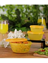 Princeware Store Fresh Bowl Round set of 3 Containers- Yellow