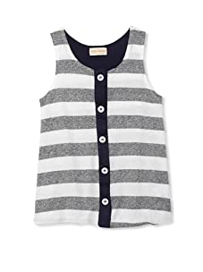 Upper School Girl's Button-Front Tank (Navy)
