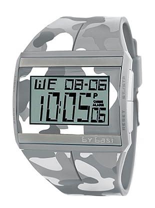 BY BASI A0881U02 - Reloj Unisex movi cuarzo correa policarbonato Gris