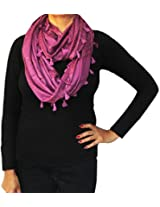Infinity Scarf One Circle Loop Neck Arap Womens Fashion Clothing (Purple)