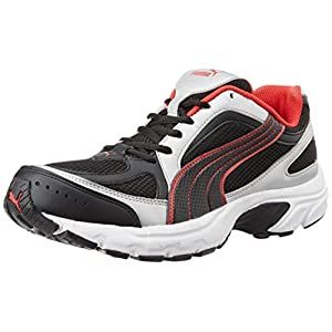Puma Men's Black And Red Synthetic Mesh Sport Shoes 18689907 8 UK