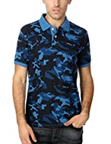 Allen Solly Camouflage Contrast Pique T Shirt
