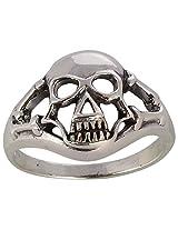 SILBERUH Unisex Sterling Silver Skull Ring