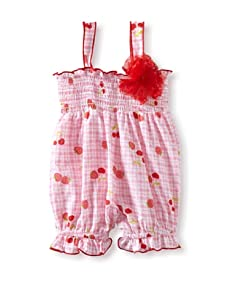 Baby Nay Smocking Balloon Romper (Strawberry Pie)
