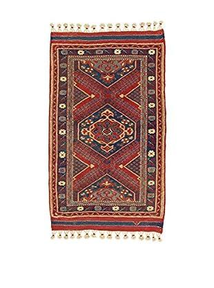 L'EDEN DEL TAPPETO Alfombra Konya Antik Rojo/Multicolor 96 x 142 cm