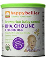 Happy Baby HappyBellies Organic Brown Rice Baby Cereal -- 7 oz Each / Pack of 2