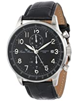 Lucien Piccard Men's LP-10503-01-BK Montilla Analog Display Japanese Quartz Black Watch