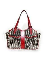 Mia Bossi Caryn Diaper Bag Black Cherry