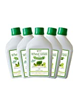 Bhumija Lifesciences Wheat Grass Juice (with Aloevera & Amla) (Sugar Free) 1 L (Combo Pack of Five)