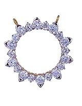 Amazing Jewel Golden Color Silver Pendant For Women