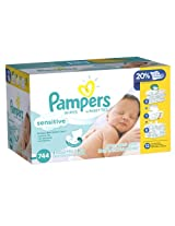 Pampers Sensitive Wipes, 744 Count