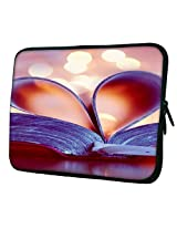 "Snoogg bookmark love heart 16"" 17"" 17.1"" 17.3"" 17.4"" inch Laptop netbook notebook Slipcase sleeve Soft case cover"
