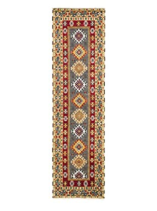 eCarpet Gallery One-of-a-Kind Hand-Knotted Royal Kazak Rug, Burgundy/Grey, 2' 8