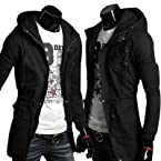 Mens Slim Fit long Trench Top Designed Hoodies Stylish Jackets Coats Tops