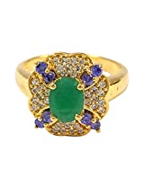 R S Jewels Gold Plated Blue Sapphire Gem Stone Rings Imitation Jewellery