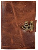 Craft Club Soft Leather with Lock Notebook, 7 x 5 inches, 200 Pages