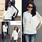 White Blend Cotton And Polyester Loose Top
