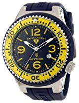 Swiss Legend Men's 21818S-C-MW Neptune Navy Blue Dial Navy Blue Silicone Watch