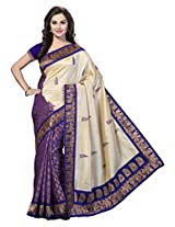 ishin Women's Silk Printed Saree(IshinSP-R-102_Multi-Coloured)
