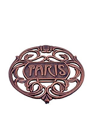 Old Dutch International Paris Trivet, Antique Copper