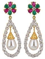 Adwitiya Collection Diamonds Pearls And Stone Earrings for Women